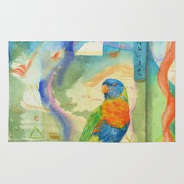 Song for Rainbow Parrot Rug