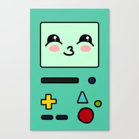 bmo Canvas Prints featuring BMO by Janice Wong