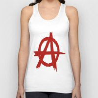 anarchy Tank Tops featuring Anarchy by ArtSchool