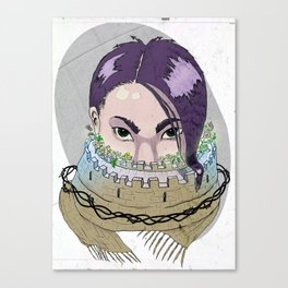 Tough Scarf Canvas Print