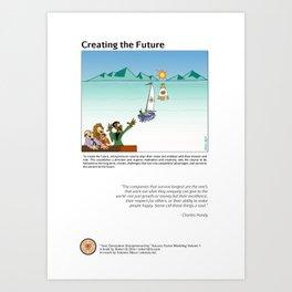 Creating the Future Art Print