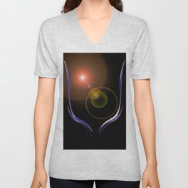 Magical Light and Energy 22 Unisex V-Neck