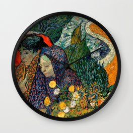 Memory of the Garden at Etten by Vincent van Gogh Wall Clock