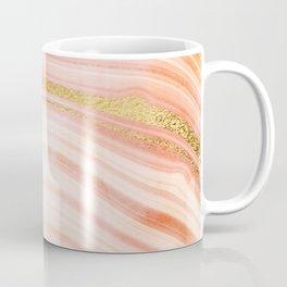 Golden Peach Mermaid Marble Coffee Mug