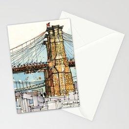 Brooklyn Bridge, New York Stationery Cards
