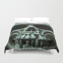Grey Skull Duvet Cover