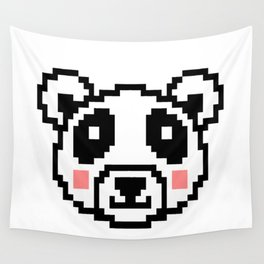 Video Game Panda 16 Bit Retro Vintage Graphic Gaming Animal Kids Gift Idea Wall Tapestry
