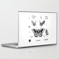 harry Laptop & iPad Skins featuring Tattoo à la Harry by Kate & Co.