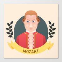 mozart Canvas Prints featuring Mozart by Espaco Ilusório