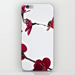 Dainty Red Double Stem iPhone Skin
