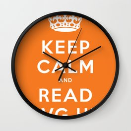 Keep calm and read HVG.hu Wall Clock