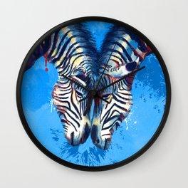 Friendship - Zebra portraits Wall Clock