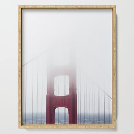 Golden Gate Bridge in Fog Serving Tray