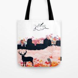 """""""Deer in the city"""" Tote Bag"""