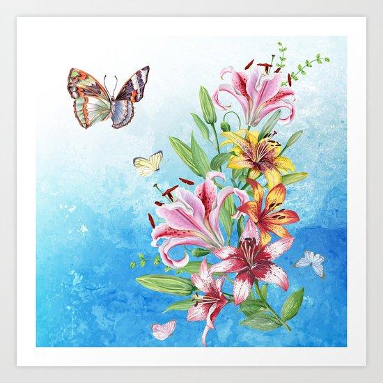 Flowers bouquet #19 Art Print