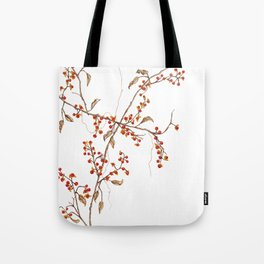 Of red and leaves Tote Bag