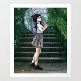 Rainy Days - Original Illustration Art Print
