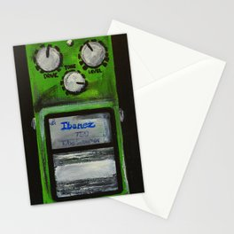 """Ibanez TS-9 Tube Screamer Guitar Pedal acrylics on 5"""" x 7"""" canvas board Stationery Cards"""