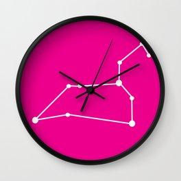 Leo (White & Magenta) Wall Clock