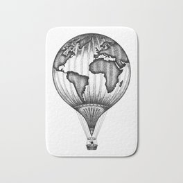 EXPLORE. THE WORLD IS YOURS. (No text) Bath Mat