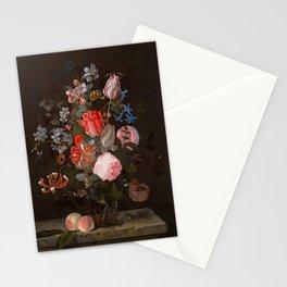 "Adriaen van der Spelt ""Still life of flowers on a stone ledge"" Stationery Cards"