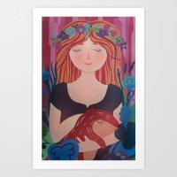 queen of the nature Art Print