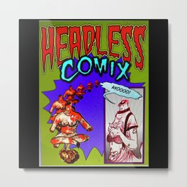 Headless Comics Metal Print
