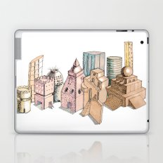 the city painted in pastel colours Laptop & iPad Skin