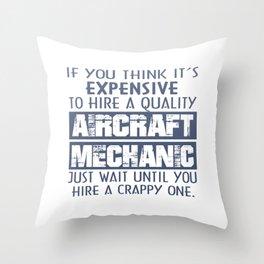 Aircraft Mechanic Throw Pillow