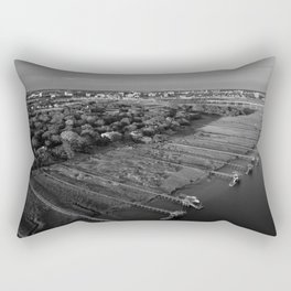 Charleston Marsh Black and White Rectangular Pillow