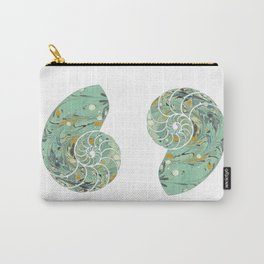Marbled Chambers of the Nautilus Carry-All Pouch
