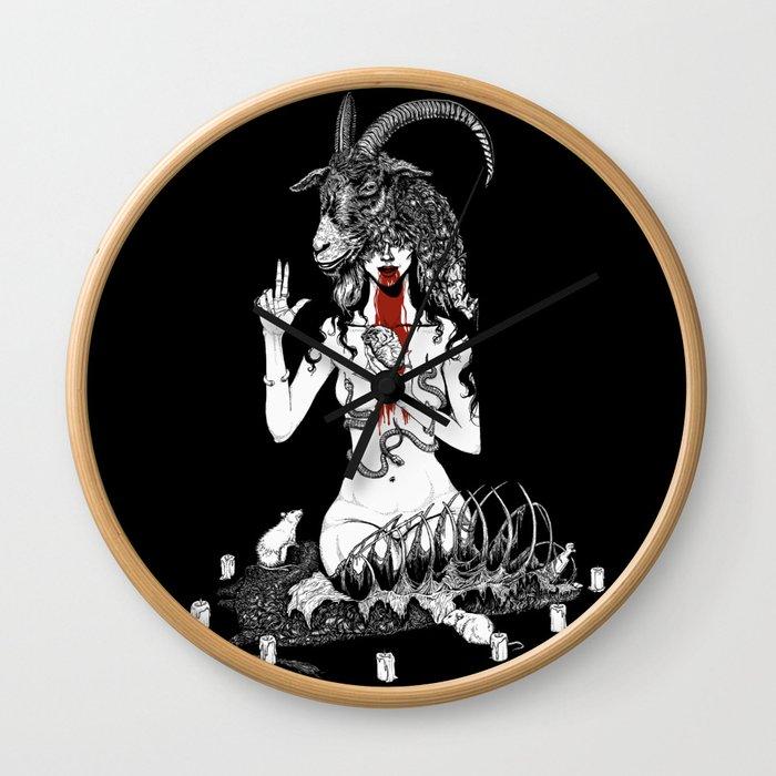 No God But Thyself Wall Clock