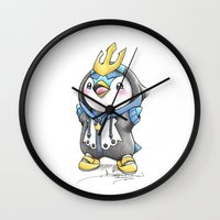 projectrocket Wall Clocks featuring Bow down to thy Emperor!   by Randy C