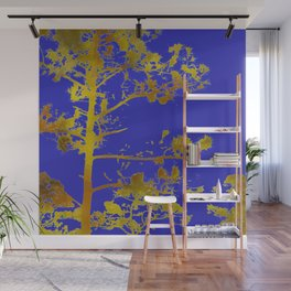 electric blue chinese whispers Wall Mural