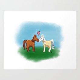 Horse Lovers Art Print