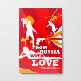 James Bond Golden Era Series :: From Russia with Love Metal Print