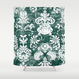 Hunter and white breeze Shower Curtain