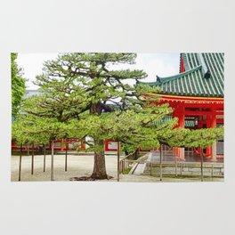 Heian shinto shrine, Kyoto, Japan Rug