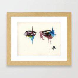 David Bowie Eyes Framed Art Print
