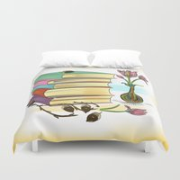 books Duvet Covers featuring Books by famenxt