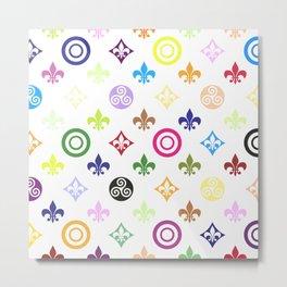 Teen Wolf symbols pattern Metal Print
