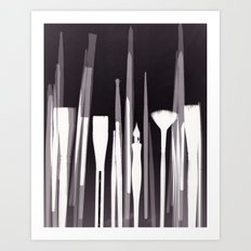 Paintbrush Photogram Art Print