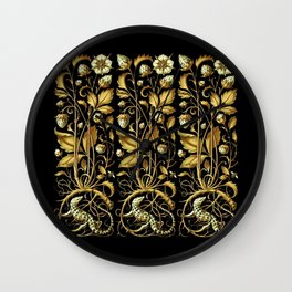 Anton Seder Lizards And Flowers Wall Clock