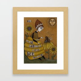 The Conversation Framed Art Print