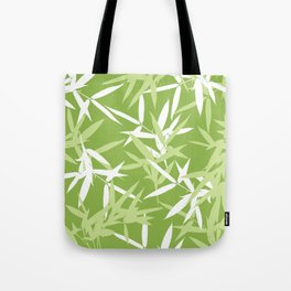 Green Bamboo Leaves Unique Pattern Tote Bag