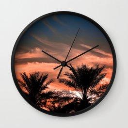 Palm Sunset Wall Clock