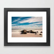 Sea Girt Beach II Framed Art Print