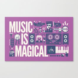 Music is ... Canvas Print