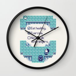 Blue Trainer Tips Wall Clock