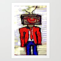 suit Art Prints featuring Suit by Keith Cameron